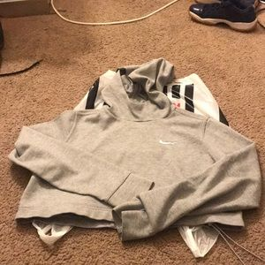 Reverse Crop Nike Sweater